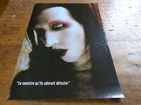 MARILYN MANSON - Mini poster couleurs N°4 !!!!!!!!!