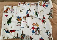 Pottery Barn Kids Dr. Seuss Christmas Grinch Max Flannel Sheet Set Twin