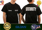 Security T-Shirt Front &Back Bouncer Event Staff uniform custom name S-XL