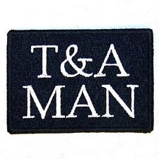 T AND A MAN EMBROIDERED PATCH P553 iron on sew biker JACKET patches bolers mew