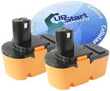 2x Ryobi 18V VOLT NI-CD NICD Battery BPP-1820 130256001 1400672 ABP1803 VC180~