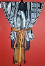 MEXICAN BLOUSE only TUNIC BOHO PEASANT VINTAGE STYLE HUIPIL M to 3X ONE SIZE # 3