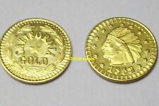 California GOLD token 1852 Indian Head Commemorative - FREE SHIPPING !