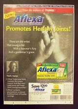 HANK AARON - Tylenol Aflexa 2000 ad - Atlanta Braves baseball - HOF Hall of Fame