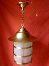 lanterne ronde laiton et verre époque début 20 ème