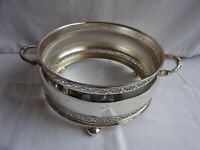 VINTAGE SILVER PLATED EPNS ROUND BOWL HOLDER FOR BOWL UP TO 16.7 cm