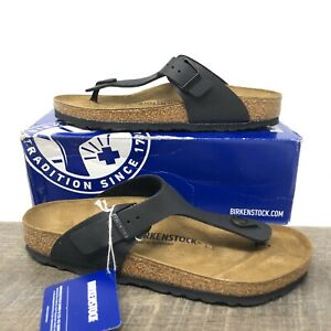 Birkenstock Gizeh Birko Flor Black Sandals - Women's Size 41 (US 10) New