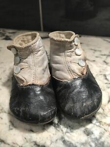 ANTIQUE VNTG CHILD /TODDLER /BABY /DOLL 3 BUTTON KID LEATHER SHOES / BOOTS