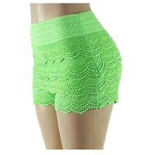 Fashion Sexy Women Korean Sweet Crochet Tiered Lace Skorts Shorts Short Pants