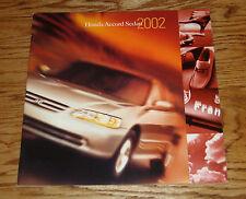 Original 2002 Honda Accord Sedan Deluxe Sales Brochure 02