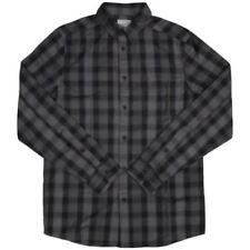 Camicie casual e maglie da uomo neri denim s
