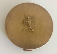 Art Deco Bronze Powder Box Roger&Gallet New York Paris USA