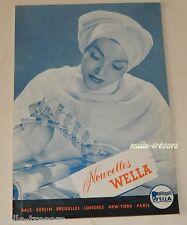 Revue 1952 Nouvelles WELLA N°2 - Produits & Accessoires pour les cheveux Vintage