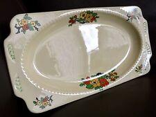 "Antique Art Deco (1928) English Pottery Registered Design 11""/28cm Sandwich Tray"