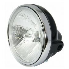 "Universal Single 7"" Round BLACK Motorcycle Headlight Streetfighter Cafe Racer"