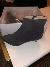 New Anthropologie Taylor Kitten-Heeled Booties in Grey Size Us 7