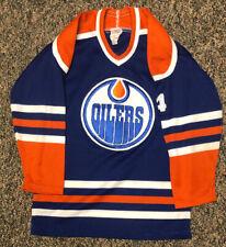Vintage Kevin Lowe Edmonton Oilers Jersey Maska CCM Boys Large Polyester