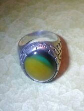 Men's Agate Ring-Turkish-Sz.11- Stamped 925 Sterling Silver