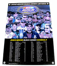 Vtg 2002 Busch Series Winners Nascar Racing 03 Schedule Poster Dale Earnhardt Jr