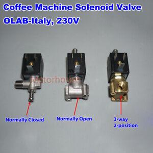 "OLAB AC 220V 230V Coffee Machine G1/8"" Brass Solenoid Valve Air Hot Water Valve"