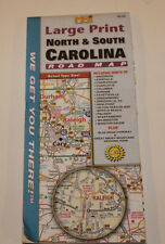 North and South Calorina (large print road map)