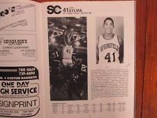 1988 Springfield College Men Basketball Program(10 Sign(JOHN SYLVIA/SCOTT WISSEL