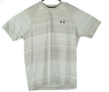 Under Armour Heat Gear Loose Fit Mens Short Sleeve Shirt-Tan Size Large/L