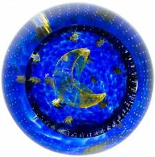 New boxed Caithness Glass To The Moon & Back millefiori paperweight