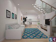 Rug Runner Door Mat Thick Dense Soft Pile 3d Modern Designs 2017 All Floors 160x230 Honeycomb Silver Teal
