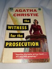 * Witness For The Prosecution by Agatha Christie 1932 Dell paperback