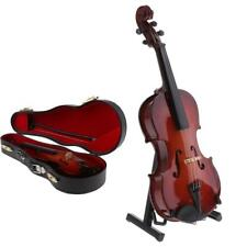 1/6 Scale Wooden Violin Musical Model for Action Figure Dollhouse Miniature