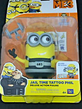 Despicable Me 3 Minions Action Figure Jail Time Tattoo Phil Toy Posable