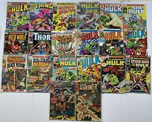 Marvel Incredible Hulk Comic Book Lot Of 20 Submariner Thing And More Silver Age