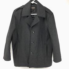 Michael Kors Wool Pea Coat Size Large Dark Gray
