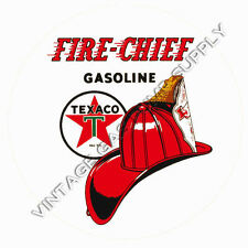 "Texaco Fire Chief 12"" Vinyl Decal (DC114)"