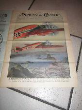 DOMENICA CORRIERE,1938 ITALIA BRASILE AVIAZIONE BRUNO MUSSOLINI RIO DE JANEIR