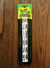 TMNT Ninja Turtles Vintage 3 Pack Pencils Lot School Supplies New 1989 80s 90s