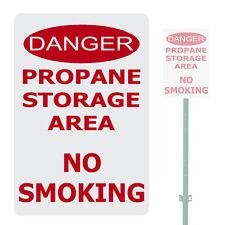 "DANGER PROPANE STORAGE AREA NO SMOKING HEAVY DUTY ALUMINUM SIGN 10"" x 15"""