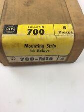 ALLEN BRADLEY 700-M16 MOUNTING STRIP 16 RELAYS 5 PIECES SERIES A
