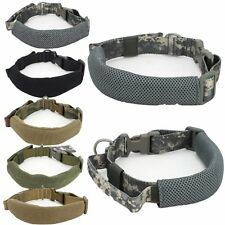 Tactical Dog Nylon Collar Military Training Working Dog Traction Rope Adjustable