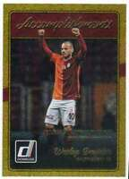 2016 Donruss Soccer Accomplishments Gold #13 Wesley Sneijder Galatasaray AS