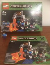 Lego 21113 Minecraft Figure Box And Instructions