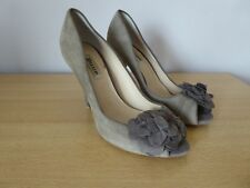 Dune worn once size 37 Brown Suede peep toe high heeled shoes