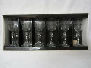 Set of Six (6) Pall Mall/Lady Hamilton Claret Wine Glasses (Boxed/Unused)