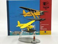 En Avion Tintin l'avion l'hydravion jaune crabe aux pinces d'or  N1 + livret