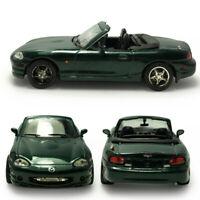 1:43 Mazda MX-5 Cabrio Metallic Modellauto Auto Spielzeug Sammlung Dunkelgrün