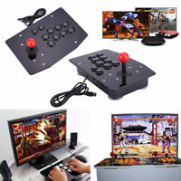 Wired USB Arcade Fighting Stick Joystick Controller Gamepad Video Game For PC UK
