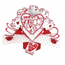 One I Love Valentine's Day Pop Up Greeting Card 3D Pop Up Cards Valentines