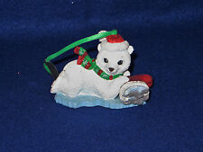 """Polar Bear"" Danbury Mint Baby Animals Ornament - Mwt"