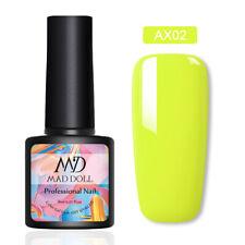 8ml MAD DOLL Neon Series UV Gel Polish Colorful Soak Off Nail Art Varnish Decor